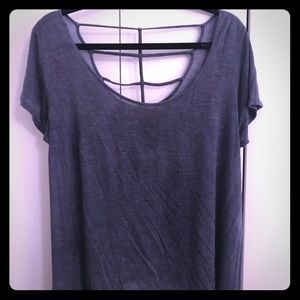 Lulu's Washed Navy Blue Tee
